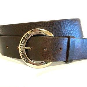 """Harley Davidson Buckle Genuine Leather Belt 36"""""""